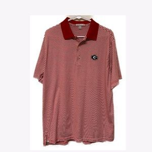 Peter Millar Georgia Bulldogs Striped Polo Shirt L